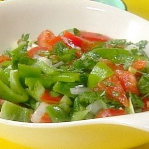 Green Pepper and Tomato Salad