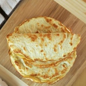 3-Ingredient Coconut Flour Tortillas