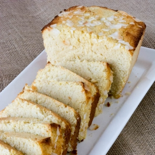 Sugar Free Lemon Coconut Pound Cake
